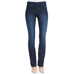 NYDJ Embellished Dark Wash Straight Leg Jeans